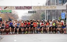 The start of the 2010 Christchurch marathon.