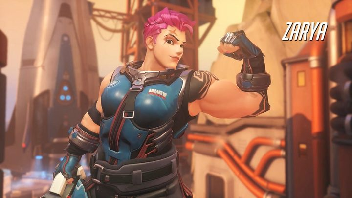 Zarya – the Overwatch character Geguri was made famous by playing so expertly.