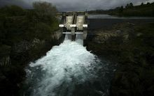 Control gates at Aratiatia, which control the water flow from Lake Taupo down the Waikato River.