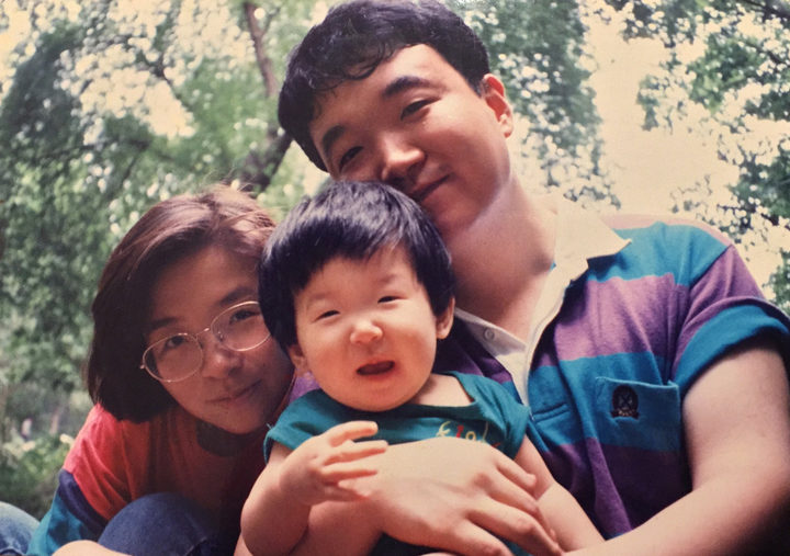 Hye Ji 'Erica' Lee as a child with her parents.