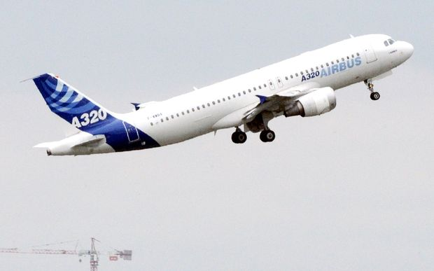 An Airbus A320 takes off from Toulouse, France.