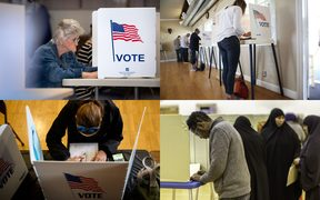 Americans vote in the US midterm elections.