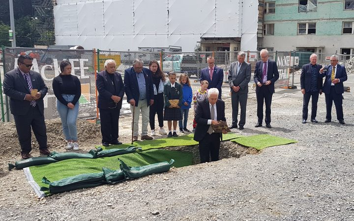 A mauri stone turning ceremony marked the official start of construction of Wellington's new children's hospital. November 7 2018.