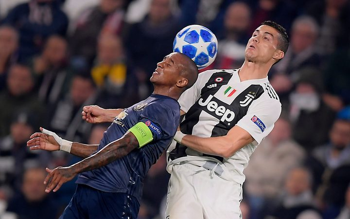 Ashley Young and Cristiano Ronaldo