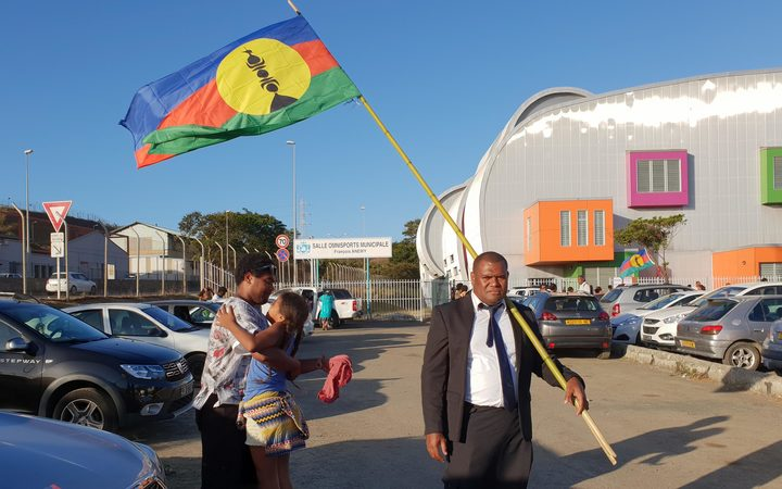 Railati Bilo, a voter in New Caledonia's independence referendum