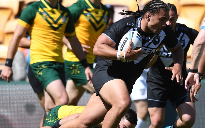 Isaiah Papali'i captained the Junior Kiwis v Junior Kangaroos in Auckland last month.