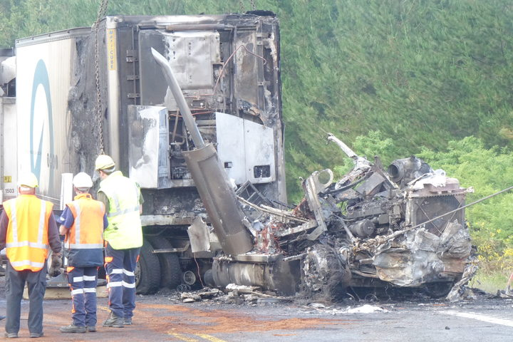 Emergency services were called around 2.30am after a car and a heavy truck crashed on State Highway 1 north of Atiamuri.