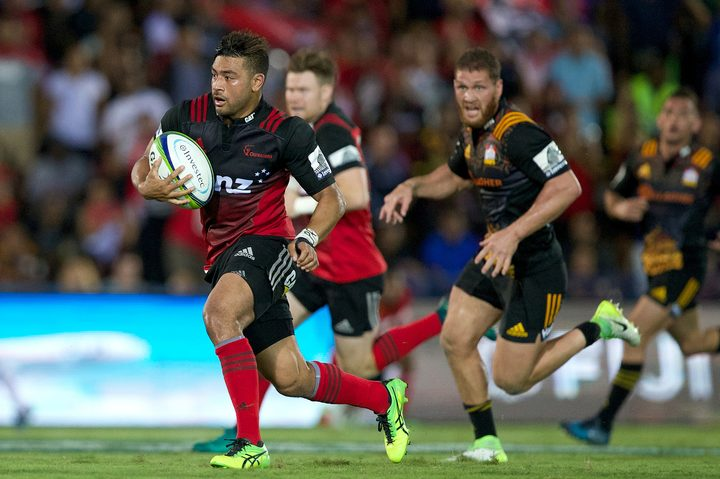 All Blacks first five Richie Mo'unga starred in the Crusaders 2017 victory in Suva.