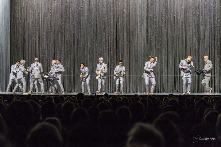 David Byrne and band