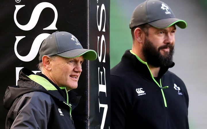 Ireland coach Joe Schmidt and his assistant Andy Farrell.