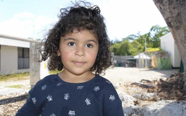 Melanie, a three-year-old refugee on Nauru.