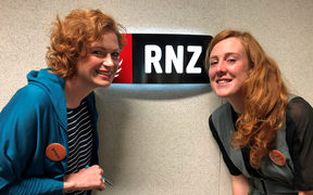 Susie Ferguson with Ashley Mackenzie-White, who organised Wellington's 'Ginger Gathering'.