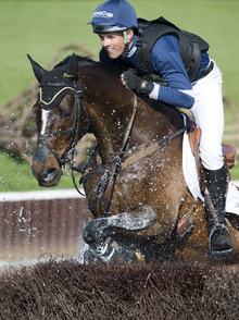 Jock Paget on Clifton Promise at the Badminton Horse Trials in May last year.