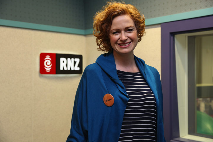 RNZ's Susie Ferguson proudly wears the ginger badge.