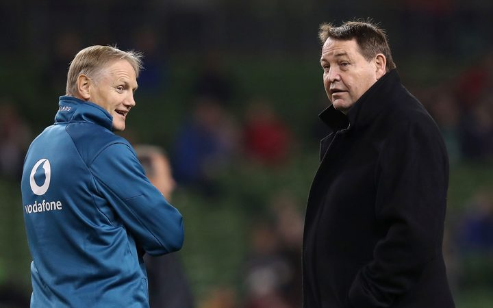 Ireland coach Joe Schmidt and All Blacks coach Steve Hansen.