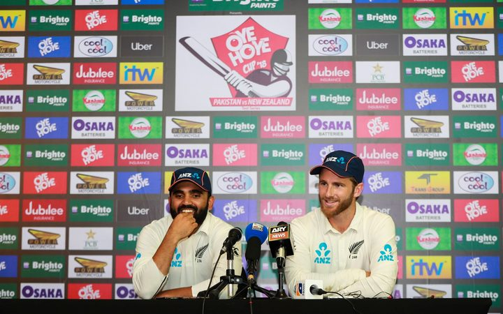 Ajaz Patel and Kane Williamson