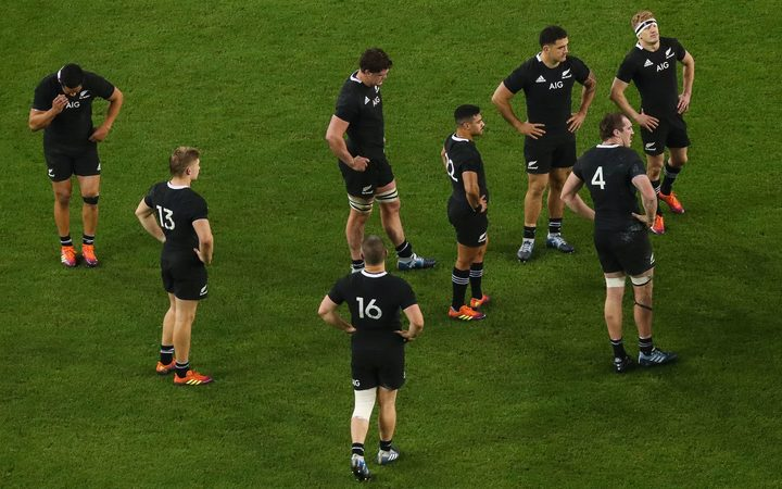 All Blacks after loss to Ireland 2018.