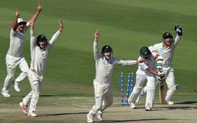 Black Caps appeal in first Test against Pakistan 2018.