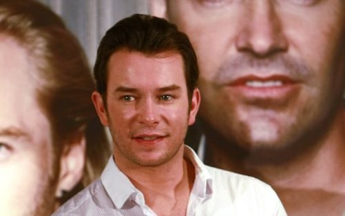 Stephen Gately, late member of Boyzone poses during a press conference in Taipei, Taiwan,  November 4, 2008.