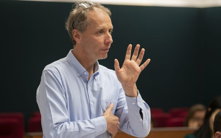 Author Nicky Hager during his submissions at the Operation Burnham Inquiry at the High Court in Wellington.