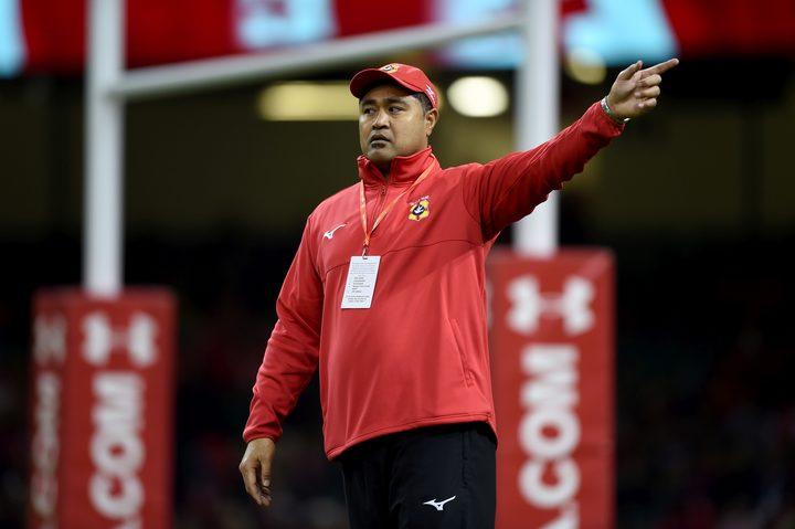 Tonga head coach Toutai Kefu.