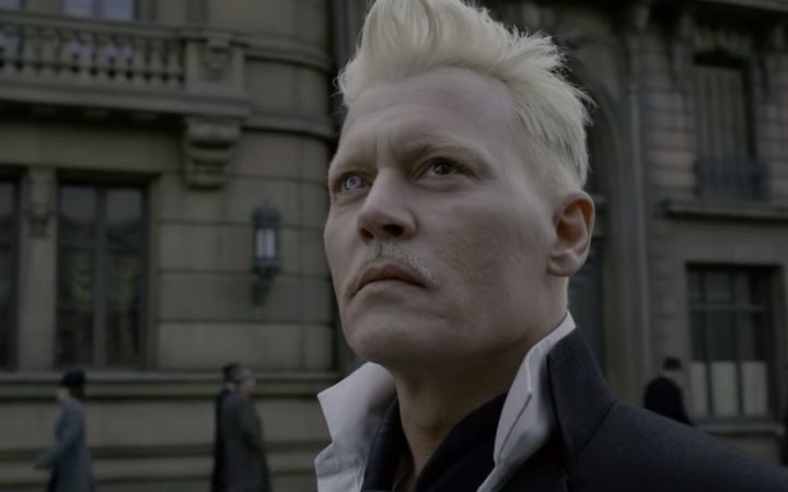 Johnny Depp as Grindelwald in the latest Fantastic Beasts installment.