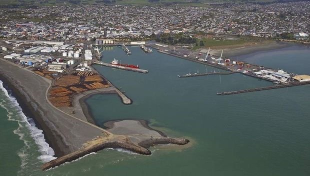 The port at Timaru.