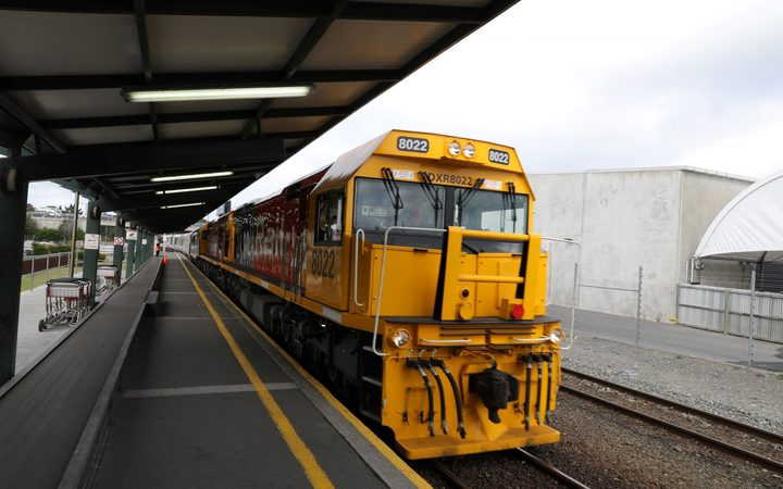 The first passenger train on the newly reopened Coastal Pacific Rail Line arrives in Christchurch from Picton.