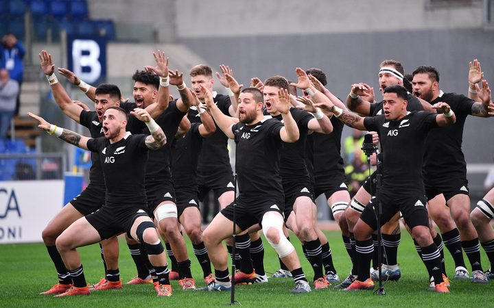 The All Blacks changed up their haka for their Test against Italy with captain Kieran Read leading the way.