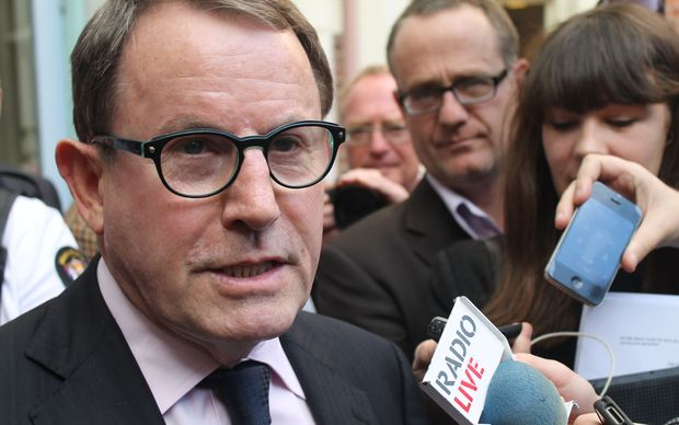 John Banks outside the Auckland High Court.