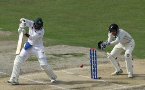 Pakistan's Haris Sohail with the bat on day two.