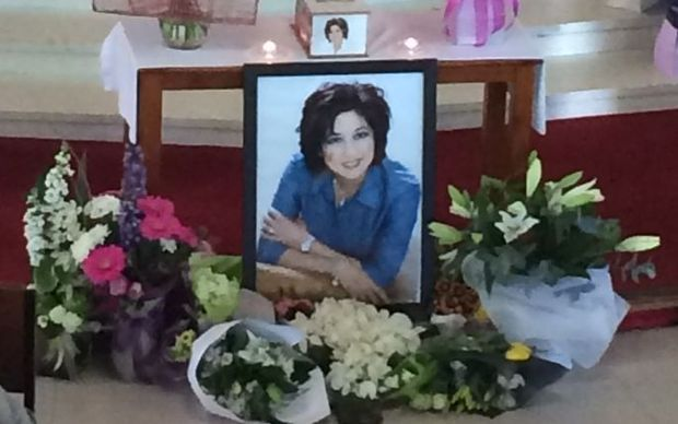 Photo of Blessie at funeral.