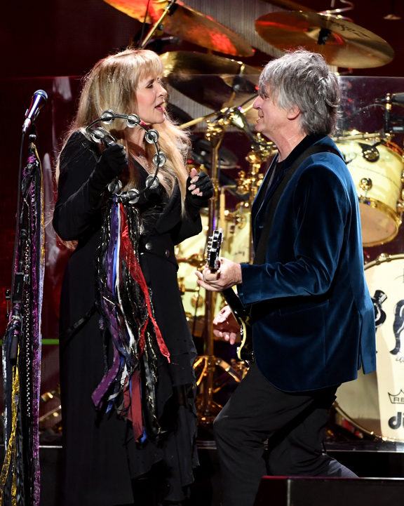 Neil Finn and Stevie Nicks of Fleetwood Mac