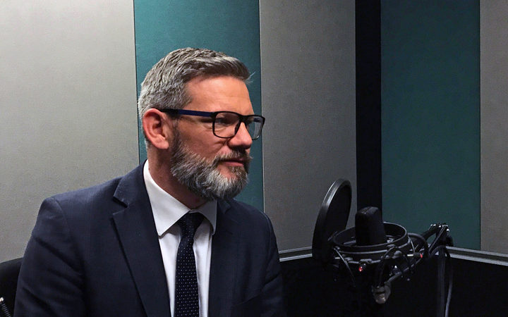 Immigration Minister Iain Lees-Galloway in RNZ's Auckland studio.