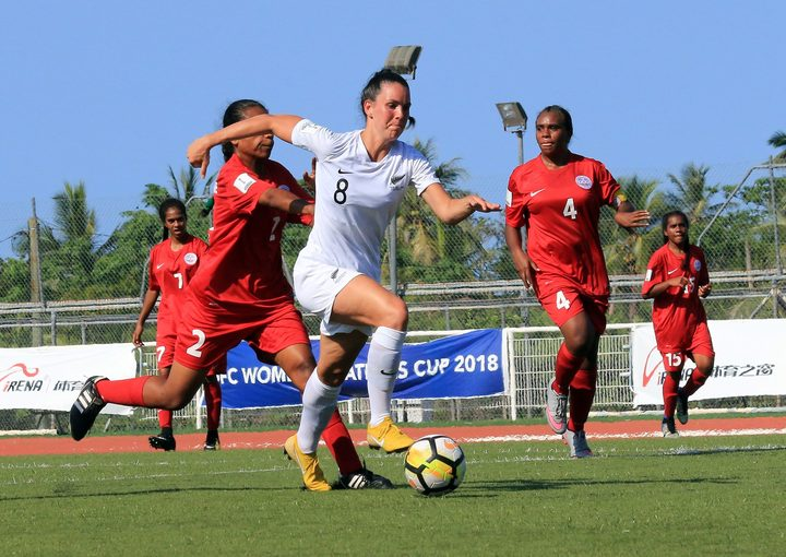 Emma Rolston netted a first-half hat-trick.