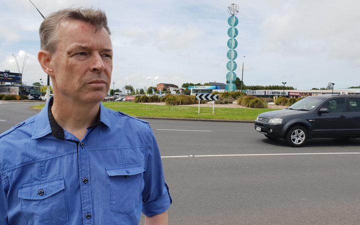 Panmure Community Action Group spokesman Keith Sharp at the roundabout that will go under the AMETI project. 30 November 2018