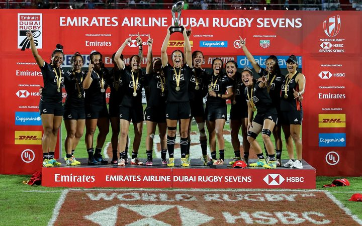 Black Ferns Sevens win in Dubai 2018.