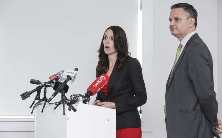 Prime Minister Jacinda Ardern and Green Part leader James Shaw announce a new $100m green fund.