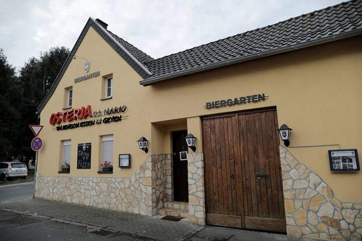 05 December 2018 North Rhine-Westphalia Pulheim During the large-scale raid against the Italian Mafia police arrested one of the alleged main perpetrators. The owner of Osteria is accused of being a member of a criminal organisation and of having been