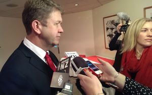 Labour leader David Cunliffe at Monday's policy launch.