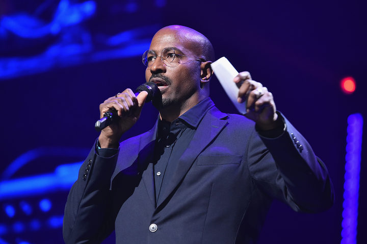 Van Jones speaks onstage during the fourth annual TIDAL X philanthropic concert in Brooklyn, New York City.   for TIDAL/AFP
