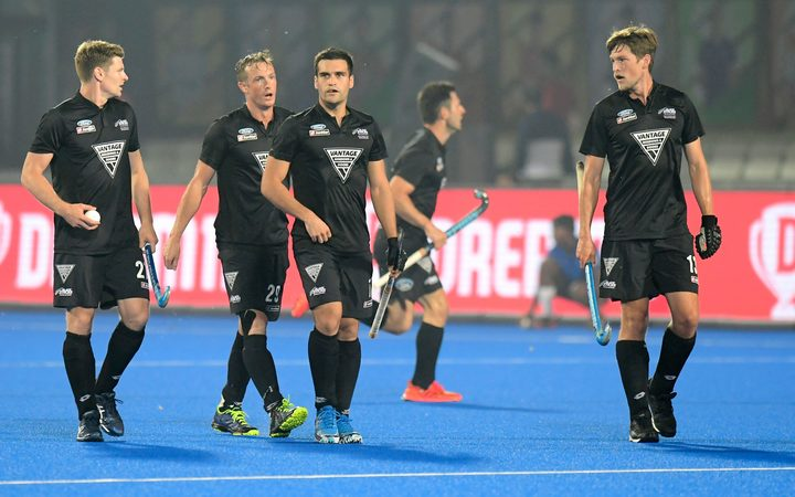 The Black Sticks men at the 2018 World Cup in India.