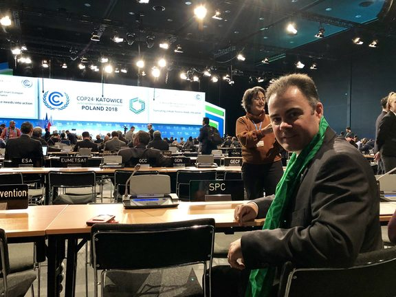 Pacific Community deputy director general Cameron Diver at COP24.