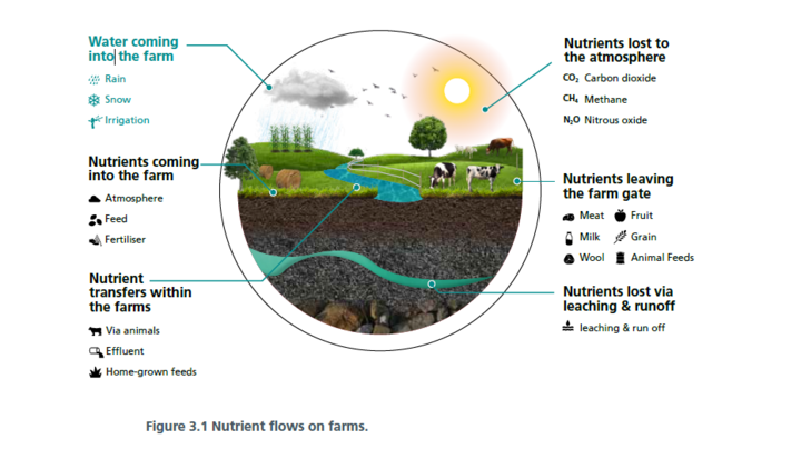 Nutrient flows on farms