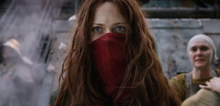 Hera Hilmar as Hester Shaw in Mortal Engines.