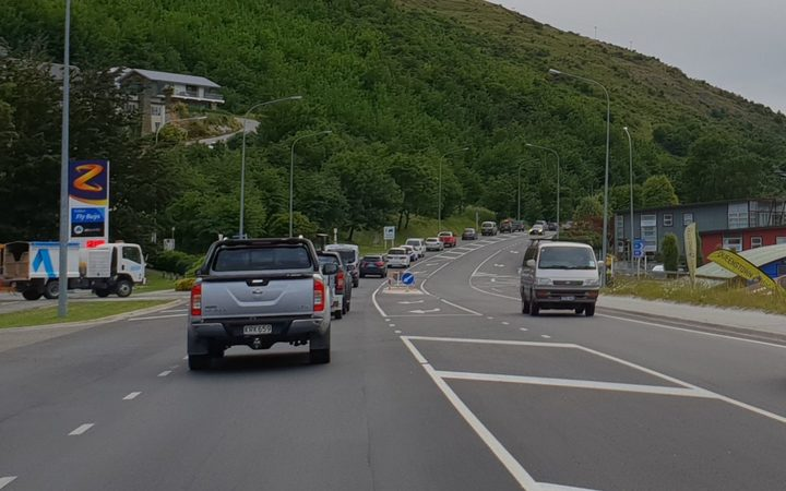 Traffic in Queenstown. 13 December