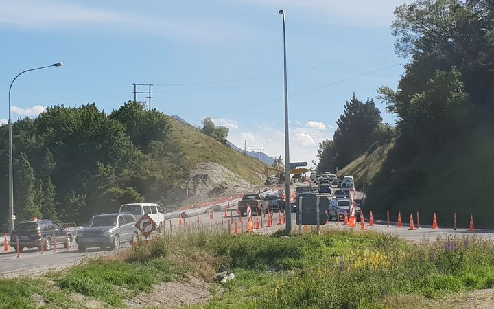 Road works on State Highway 6 near Queenstown. 13 December