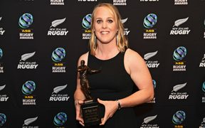 New Zealand Rugby Women's Player of the Year winner Black Ferns Kendra Cocksedge.
