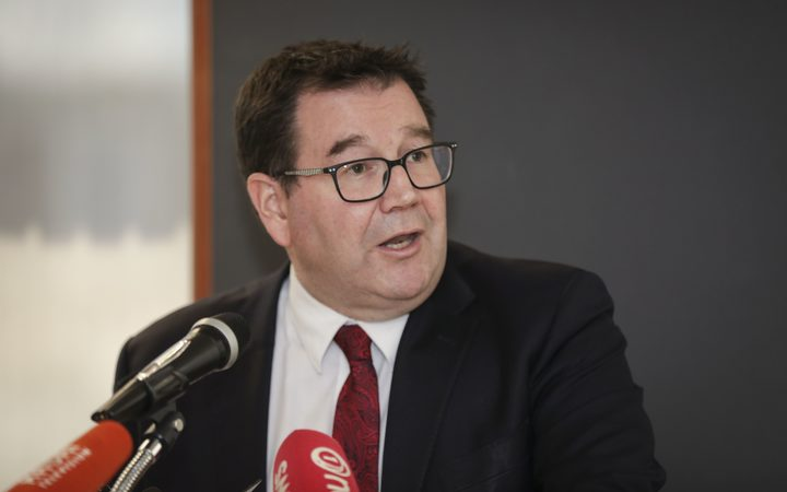 Finance Minister, Grant Robertson, speaks to media about the Half Yearly Economic and Fiscal Update.