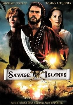 Movie poster for Savage Islands, a highly fictionalised retelling of Bully Hayes' life